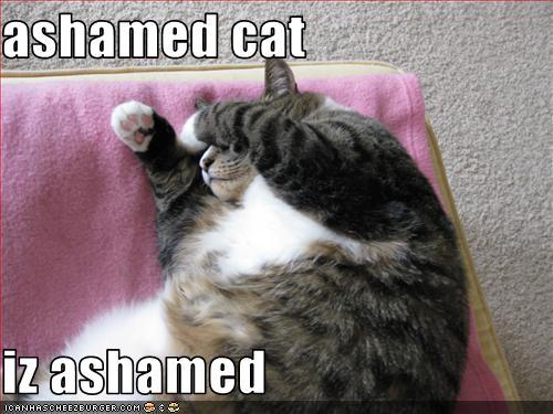 ashamed